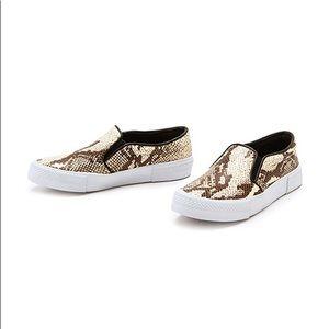 b5f0ee0ccbc Steve Madden Shoes - Steve Madden Snake Print Slip On Leather Sneakers